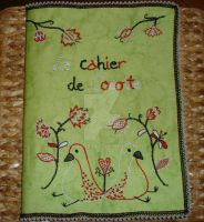 Embroidered Notebook : le Cahier de Cocotte by mari6s