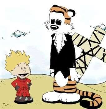 Calvin the Stampede and Hobbes by SpiffyBug