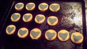 Frozen Hearts cookies by mkl91