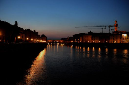 Florence at night by The-Beckett