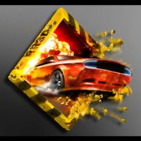 Racing Rush 3D death road Logo by Rayvell