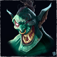 Grinning Orc by JakkeV