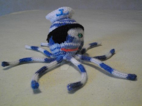 Knitting Bee Octopus Pirate No. 2 by Teriko-Bubbles