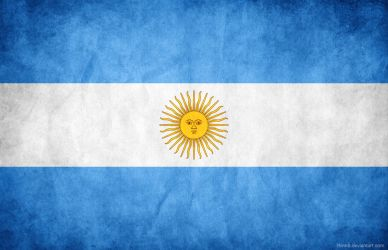 Argentina Grunge Flag by think0