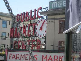 Pike's Place Public Market Sign by Tempest19