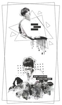 [Graphic] Jeon JungKook Young 4rever by linhchinie