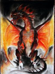 Hellfire Wyrm --old-- by BrassDragon