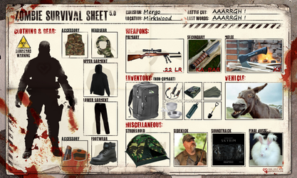 Zombie Survival Sheet by Mergorti