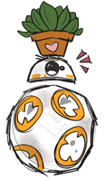 Happy little droid by carouselcoffee