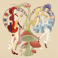 Alice and the Queen by PearFlower