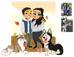 Photojosh215  chibi  couple family commission by temporaryWizard