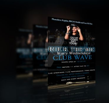 Roc the Mic #Club Wave Flyer by AmbitiousDesignz