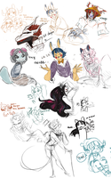 Event stream doodles by stargazingdreamer