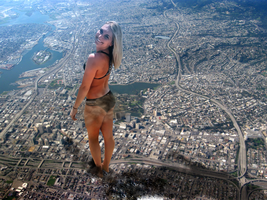 Giantess Steph Stands Tall by dochamps