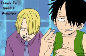 One Piece - Thanks for 9000+ by Xpand-Your-Mind