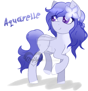 [Re-upload, OPEN] Watercolor pony SET PRICE by Fireflys-Adopts