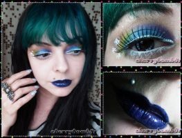 Bright shine star lime crime makeup by cherrybomb-81