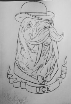 Dapper Walrus-Commission by mylovelyghost