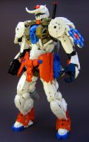Bionicle MOC: Warpath Gundam by LordObliviontheGreat