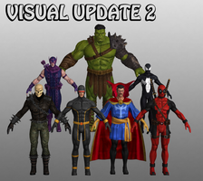 Visual Update Marvel Heroes XNALara 2 by Xelandis