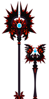 Diabolic Mage weapons by iFierceFang
