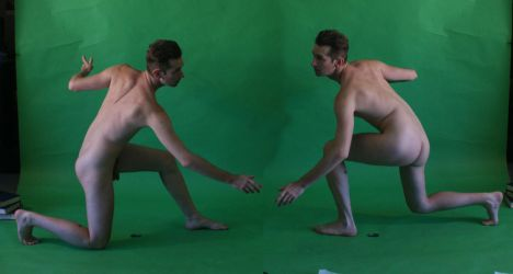 Two Male Supplicants Nude by TheMaleNudeStock