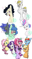 Mixed FaeVerse Concepts by FaeDeeDraws