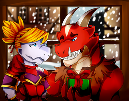 Christmas Didi and Rhem! by FanDragonBrigitha