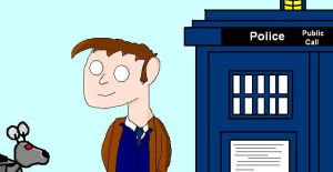 Doctor with K-9 and the TARDIS by David-Tennant-Fans