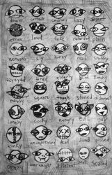 sketch page: caveman emoticons by catswilleatyou