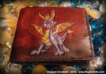 Spyro The Dragon Wallet leather wallet by RaptorArts