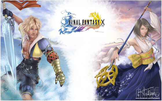 Final Fantasy X - Tidus and Yuna by TheTakemi