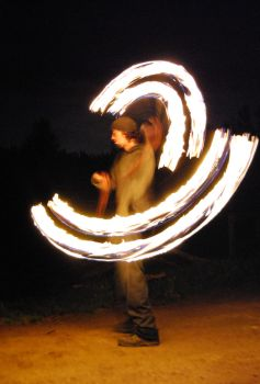 Fire Spinning 1 by Tizera