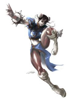 Chun-Li  colored 2010 by Gilmec