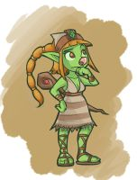 Cthia the Goblin Shaman by RealBigNUKE