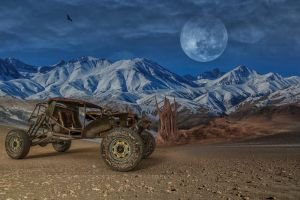 Badlands 01.. by AledJonesDigitalArt