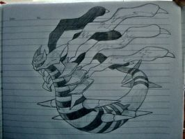 #487 Giratina-O - Ruler of the Distortion World by Kboomz