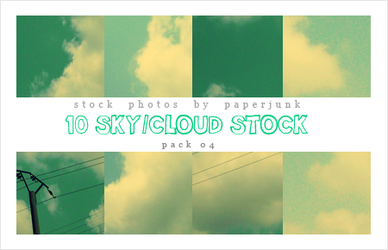 Stock Pack 04: Cloudy by PaperJunk