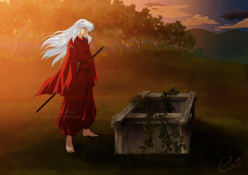 Inuyasha - Waiting for you by Cati-Art