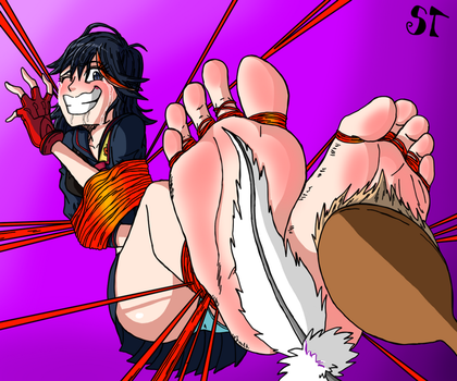 [Request] Ryuko Experiences The Tickling by SymbionTickles