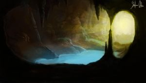 mysterious cave by lazerman425