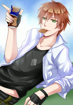 Kentin and Cookies ~ by Mitsukebe