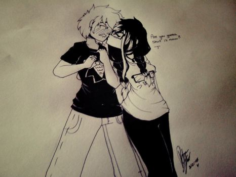 How to shut him up XD by Drawing-Heart