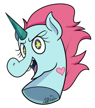 Pony Head (Commission) by BefishProductions