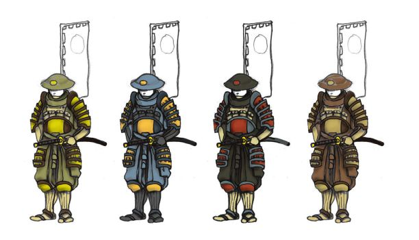 Namoto Swordsmen - Variants by Lastwear