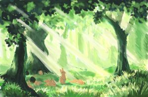 Rabbit Forest by nienor