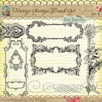 Vintage Stamps PS Brushes 3 by starsunflowerstudio