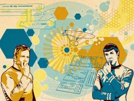 TOSART: Kirk and Spock 2 by moiramurphy