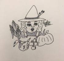Inktober + Witches: Farm Witch  by erbyderby24