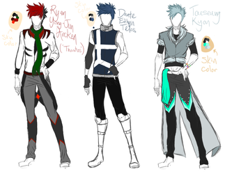 [RWBY] Character Reference - Part 1 by WhisperTheChosen